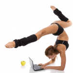 Agile women with laptop