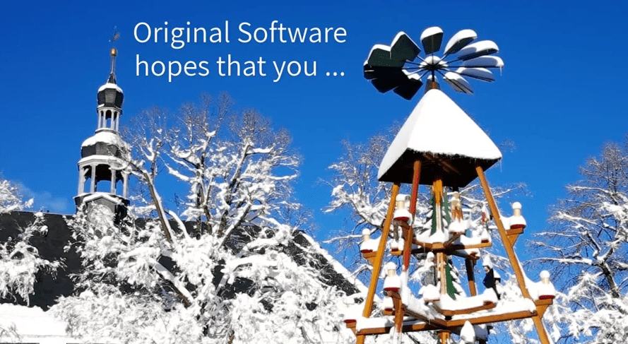 Christmas wishes from Original Software
