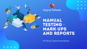 Original-Software-Manual Testing - mark-ups and reports-video-image