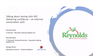 original-software-Reynolds-catering-talk-about-testing-Infor-M3-video-image