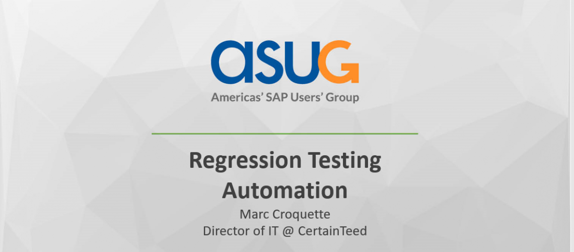 Regression Testing Automation Presentation