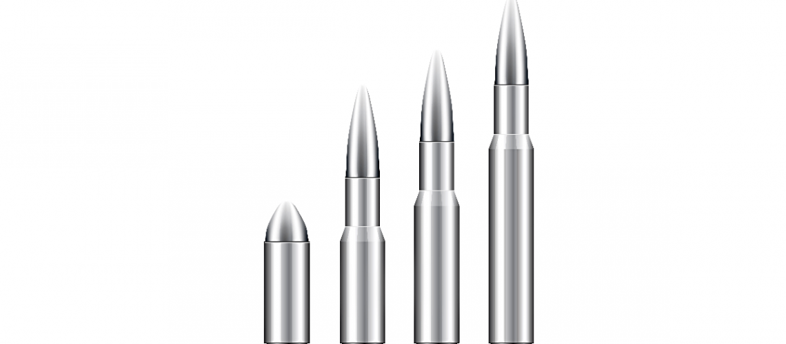 row of silver bullets